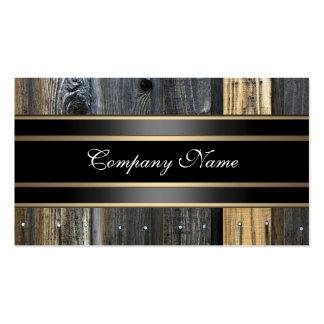 Bronce de madera beige elegante del negro de la mi tarjetas de visita