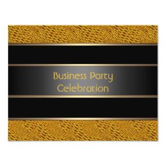 """Bronce del negro del fiesta de oficina de negocios invitación 4.25"""" x 5.5"""""""