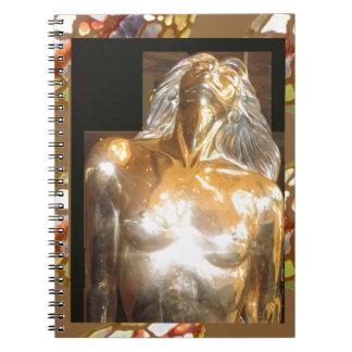 Bronce del oro de la estatua de la SIRENA: GRANDES Libretas