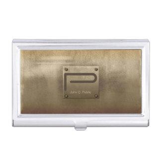 Bronce plateado de metal áspero cajas de tarjetas de negocios