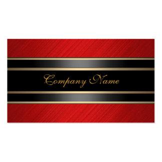 Bronce rojo elegante del negro del metal tarjeta personal