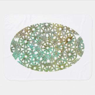 bronce y recorte abstracto del diseño del cordón manta de bebé