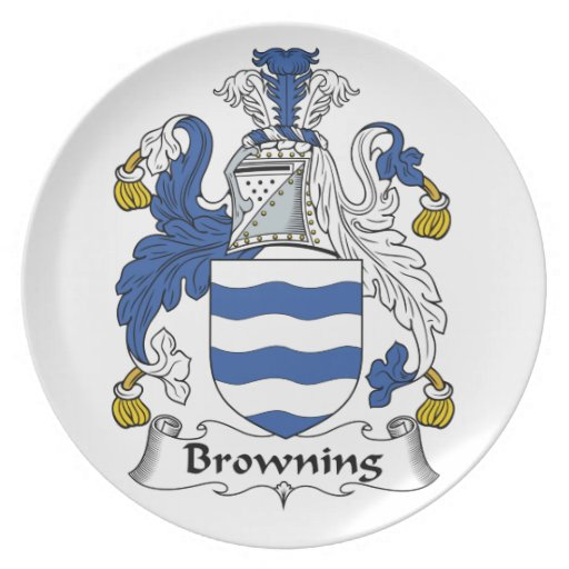 Bronceado del escudo de la familia platos para fiestas