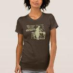 """Broncee la camiseta para mujer """"de una POCA"""