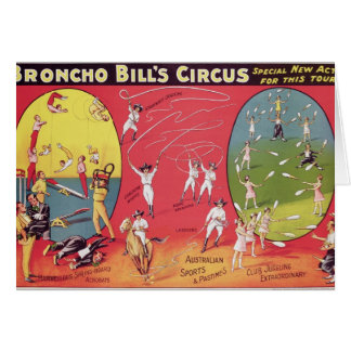 Broncho Bill's Circus, Birmingham c.1890-1910 Greeting Card