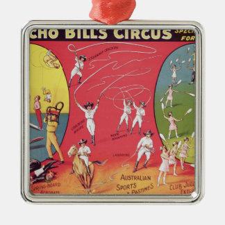 Broncho Bill's Circus, Birmingham c.1890-1910 Metal Ornament
