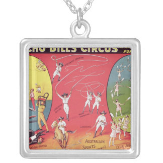 Broncho Bill's Circus, Birmingham c.1890-1910 Silver Plated Necklace
