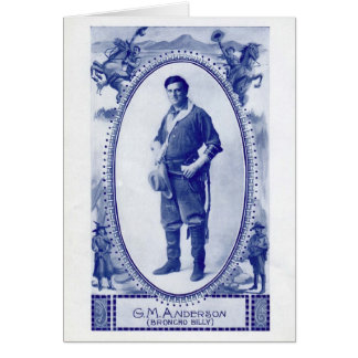 Broncho Billy Anderson 1914 vintage portrait Greeting Card