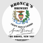 Broncks Brewert Etiquetas Redondas