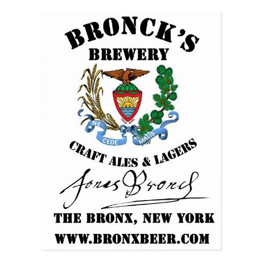 Broncks Brewert Tarjeta Postal