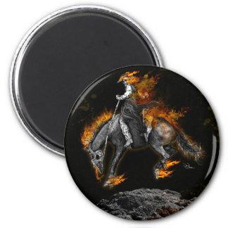 Bronco Blaze 2 Inch Round Magnet
