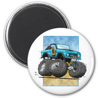 Bronco_Blue.png 2 Inch Round Magnet