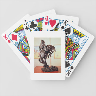 Bronco-Buster (bronze) Bicycle Playing Cards