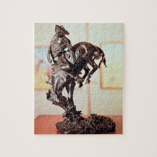 Bronco-Buster (bronze) Jigsaw Puzzles
