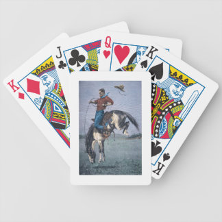 Bronco-Buster (coloured engraving) Bicycle Playing Cards