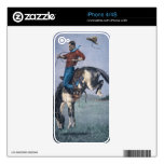 Bronco-Buster (coloured engraving) Decal For iPhone 4S
