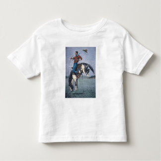 Bronco-Buster (coloured engraving) Toddler T-shirt