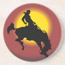 Bronco Buster Sandstone Coaster
