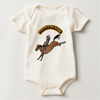 Bronco Buster with Text Baby Bodysuit