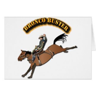 Bronco Buster with Text Greeting Card