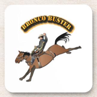 Bronco Buster with Text Coaster