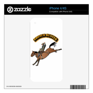 Bronco Buster with Text iPhone 4 Skin