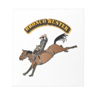 Bronco Buster with Text Scratch Pads