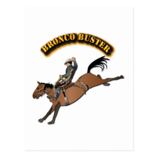 Bronco Buster with Text Postcard