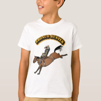 Bronco Buster with Text T-Shirt