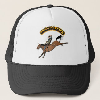 Bronco Buster with Text Trucker Hat