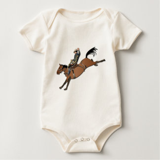 Bronco Buster without Text Baby Bodysuit
