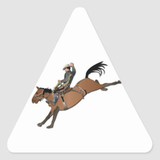 Bronco Buster without Text Triangle Stickers