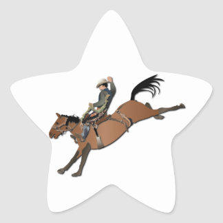 Bronco Buster without Text Star Sticker
