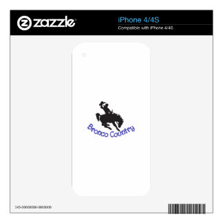 Bronco Country iPhone 4 Skin