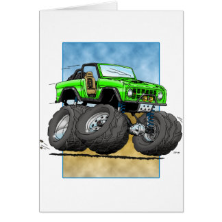 Bronco_Green.png Greeting Cards