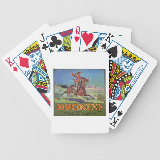 'Bronco Oranges', c.1900 (colour litho) Bicycle Playing Cards
