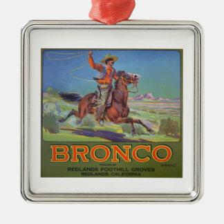 'Bronco Oranges', c.1900 (colour litho) Metal Ornament