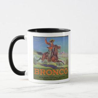 'Bronco Oranges', c.1900 (colour litho) Mug