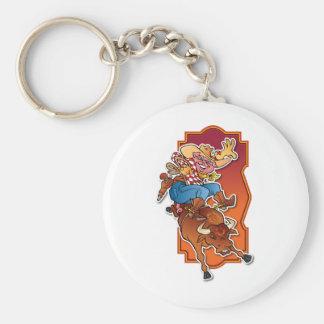 Bronco Pig Keychain