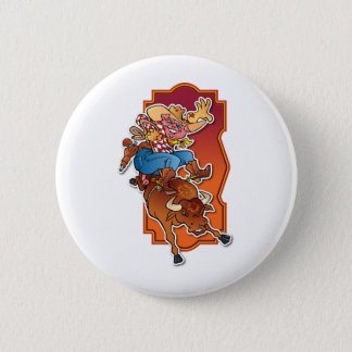 Bronco Pig Pinback Button