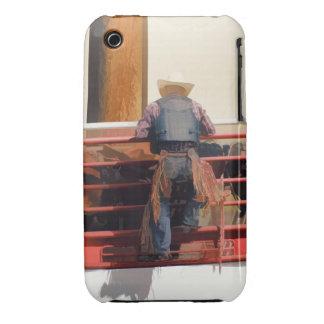 Bronco Rider Saddling Up iPhone 3 Cases