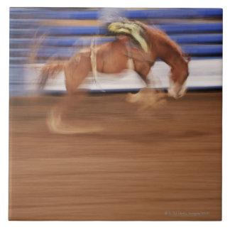 Bronco riding ceramic tile