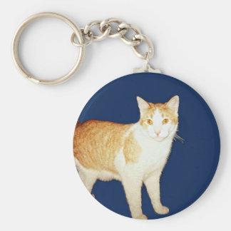 Bronco The Cat Basic Round Button Keychain