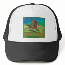 Bronco Vintage Fruit Label Trucker Hat