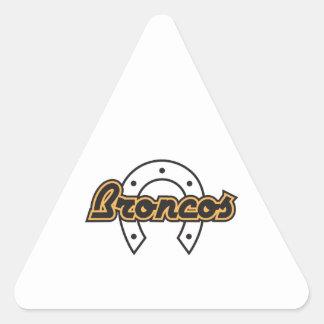 BRONCOS OPEN HORSESHOE TRIANGLE STICKER