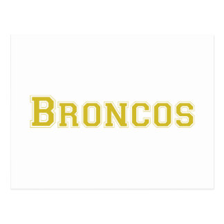 Broncos square logo in gold post card