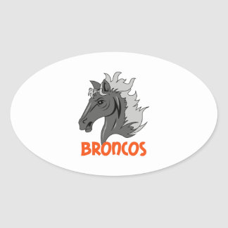BRONCOS OVAL STICKERS