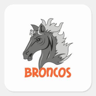 BRONCOS SQUARE STICKER