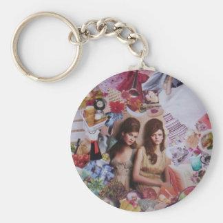 bronte basic round button keychain