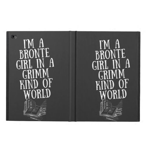 Bronte Girl Grimm World White Typography Powis iPad Air 2 Case